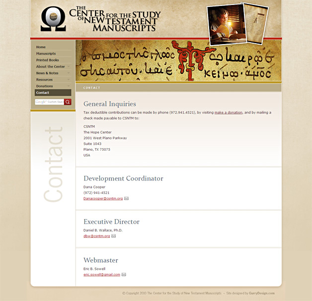 A screenshot of the CSNTM website