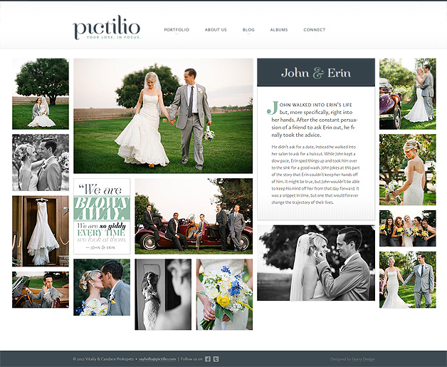 A screenshot of the Pictilio website